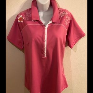 Adidas Clima Cool Pink Polo Golf Shirt Size XL